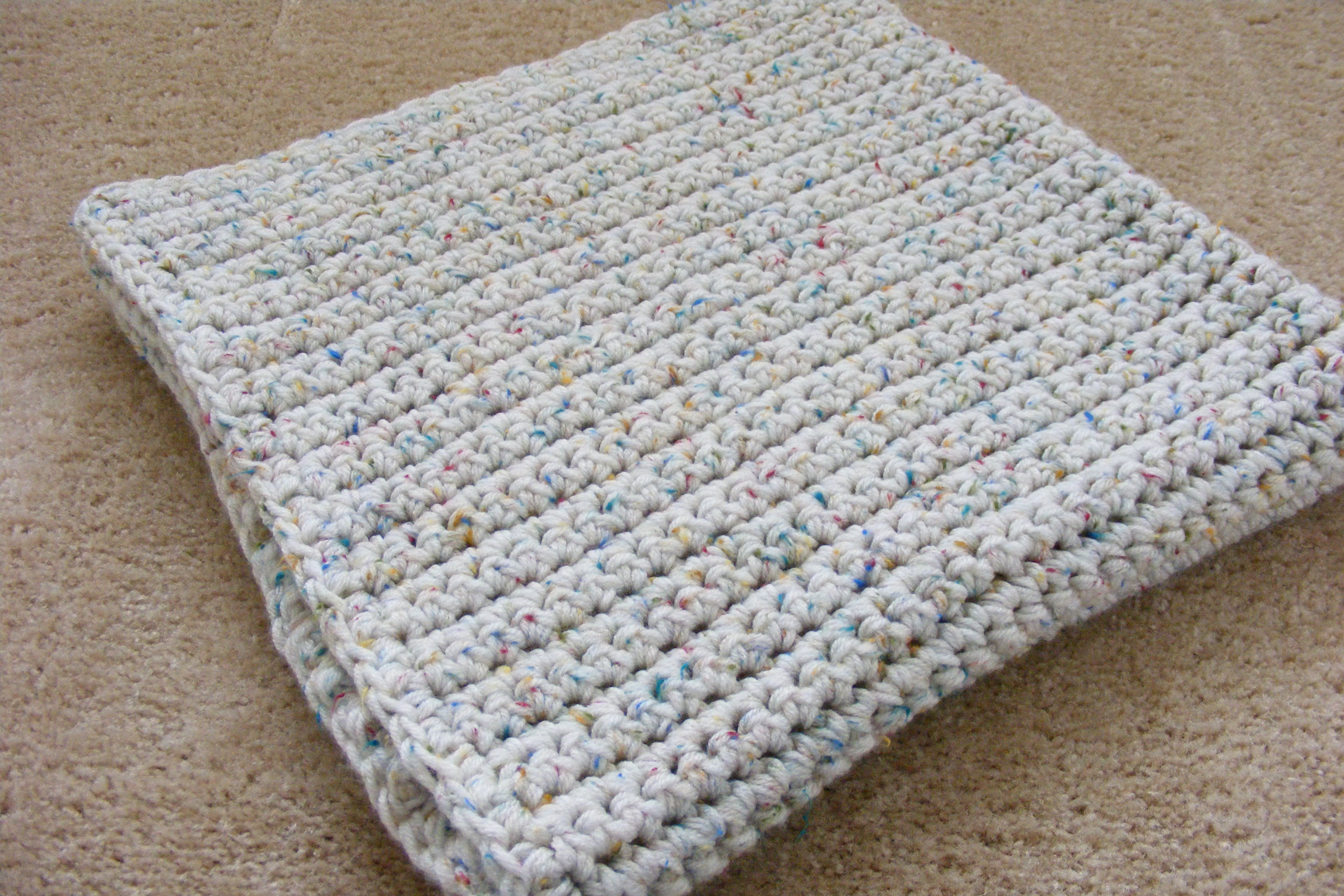 Crochet Baby Blanket : Single Crochet Baby Blanket GretchKals Yarny Adventures