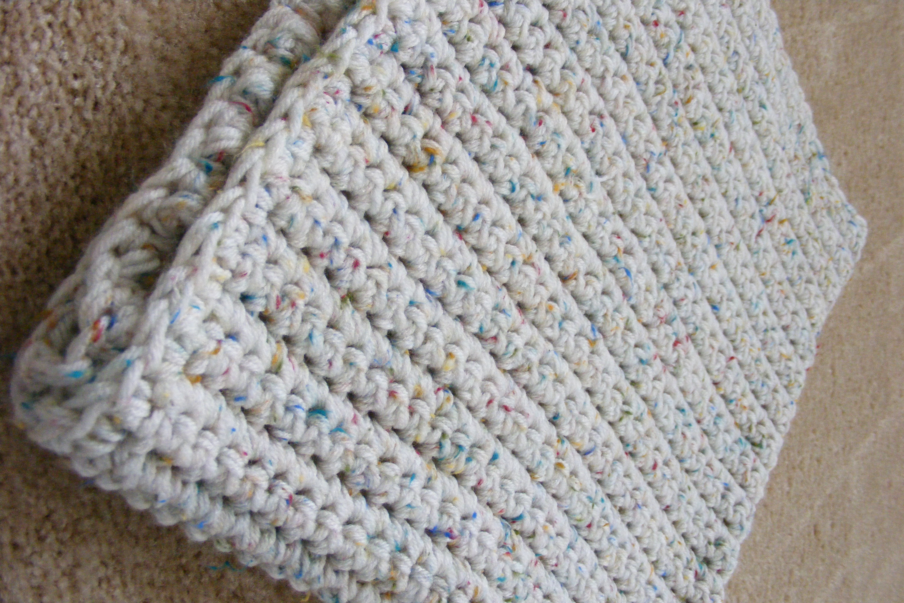 Free Crochet Twin Blanket Pattern : Single Crochet Baby Blanket Pattern GretchKals Yarny ...
